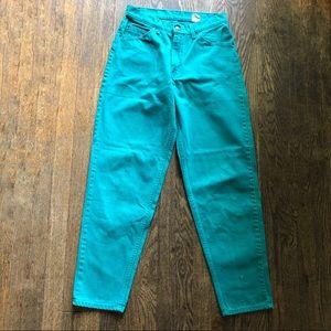 Vintage Levi's 560 Teal Jeans